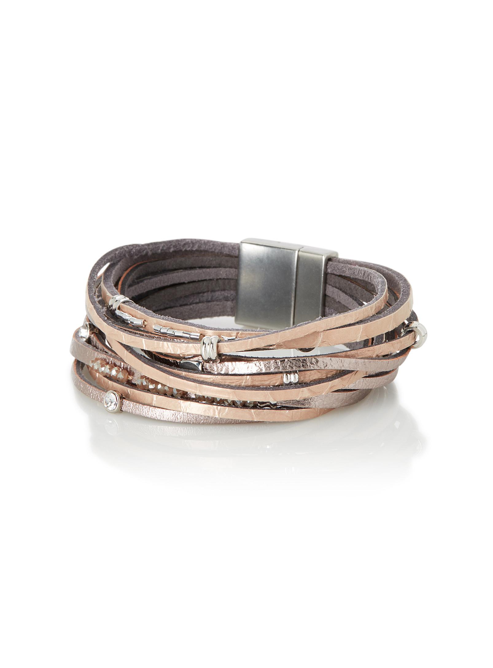 Bracelet à lanières en cuir