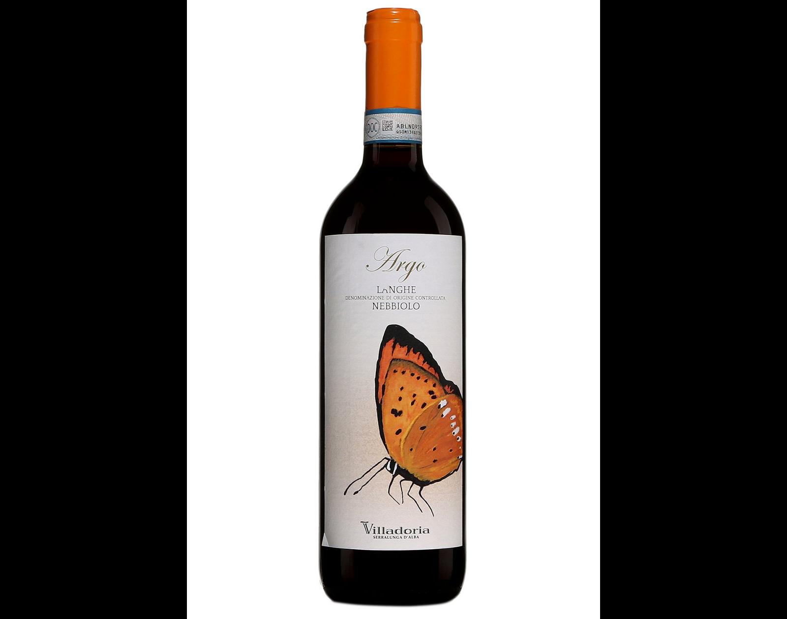 bouteille de vin rouge Villadoria Argo Langhe Nebbiolo 2017
