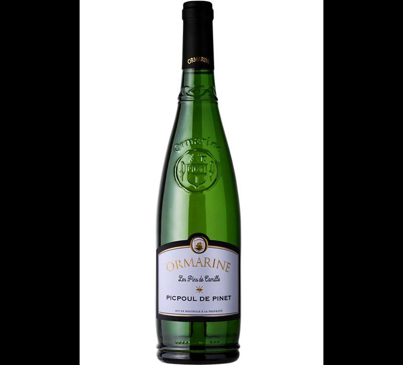 bouteille de vin blanc Ormarine Picpoul de Pinet Les Pins de CamilleOrmarine Picpoul de Pinet Les Pins de Camille