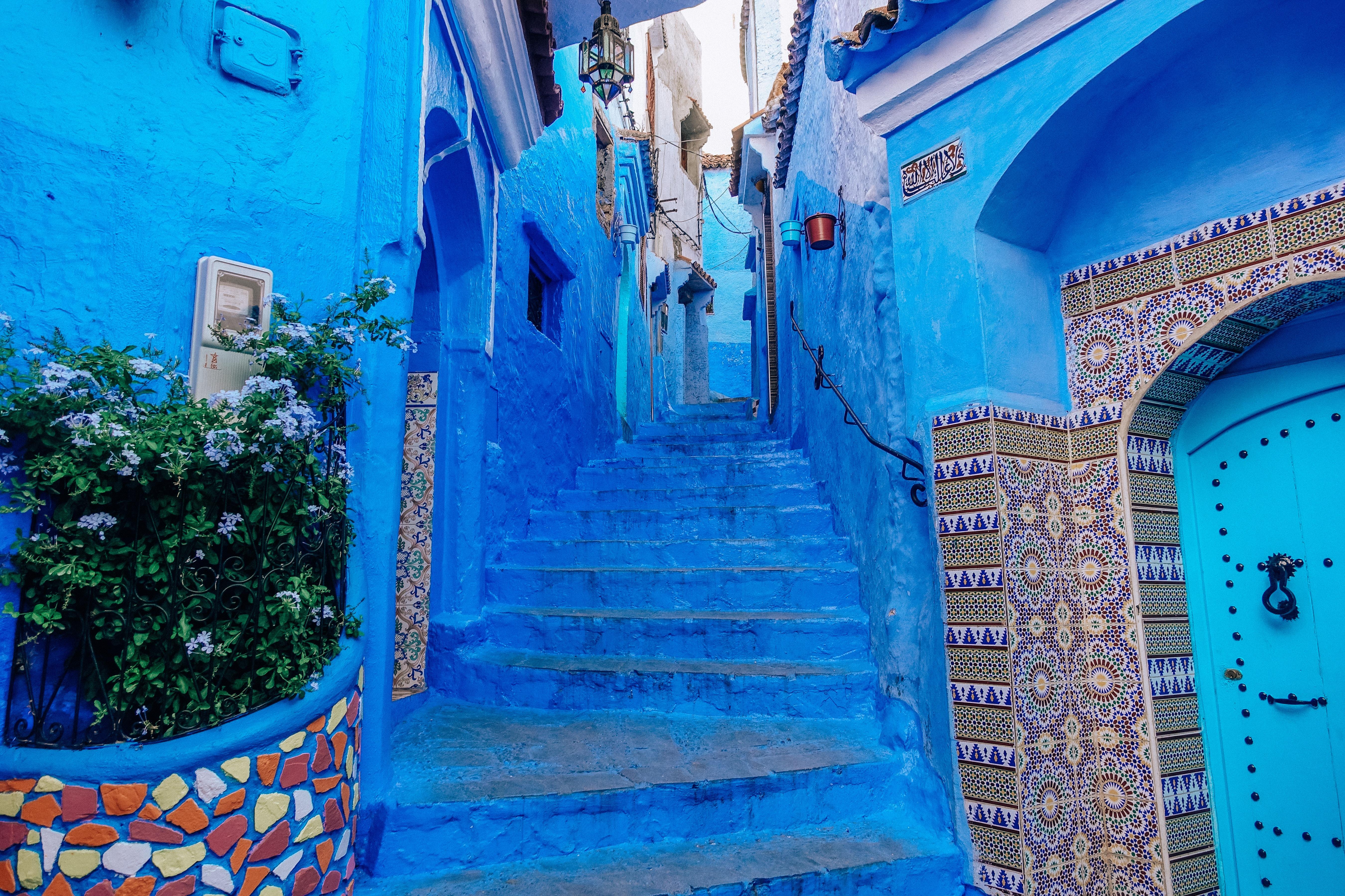 Chefchaouen ville bleue avec architecture marocaine
