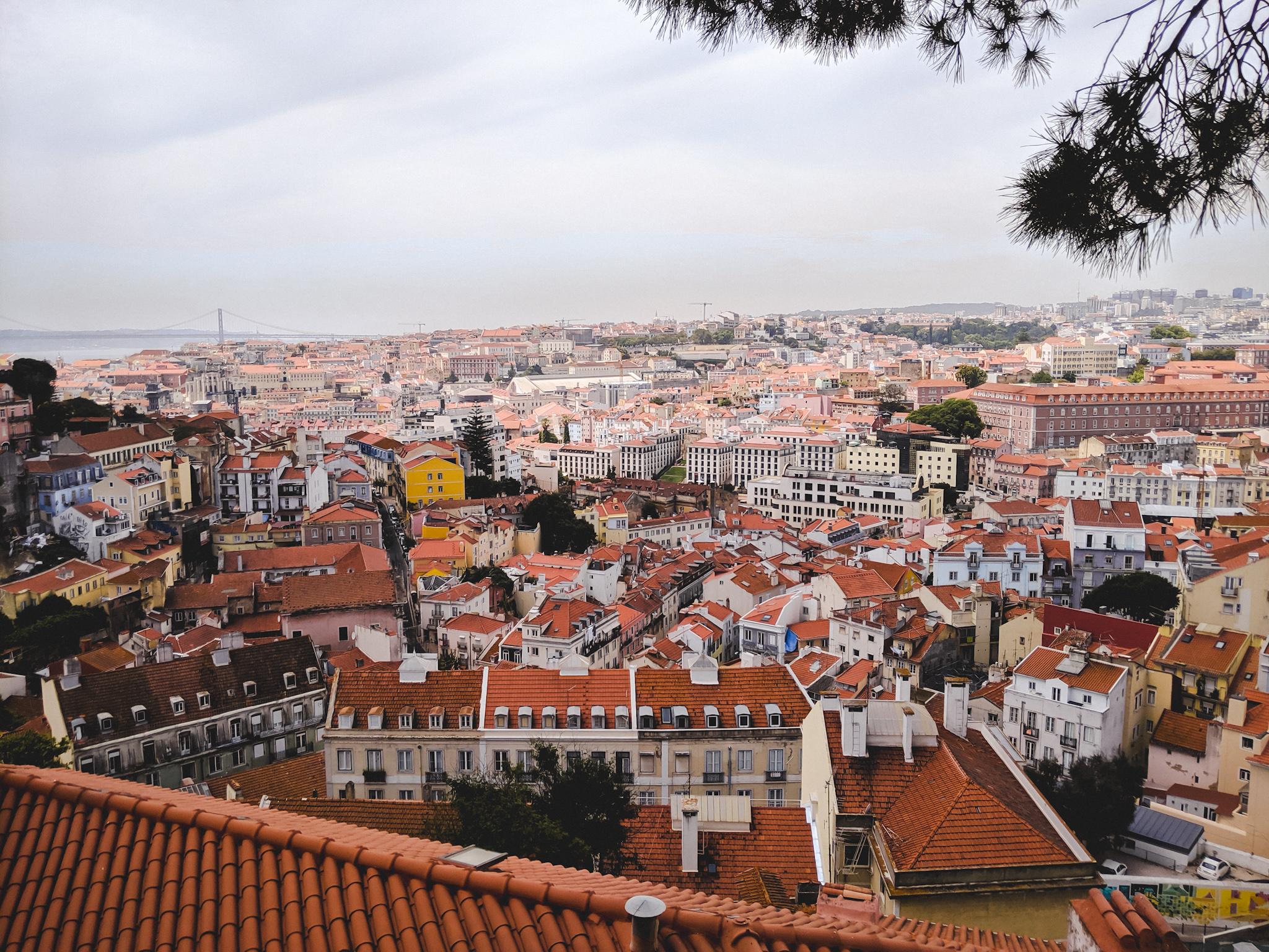 portugal ville toits oranges