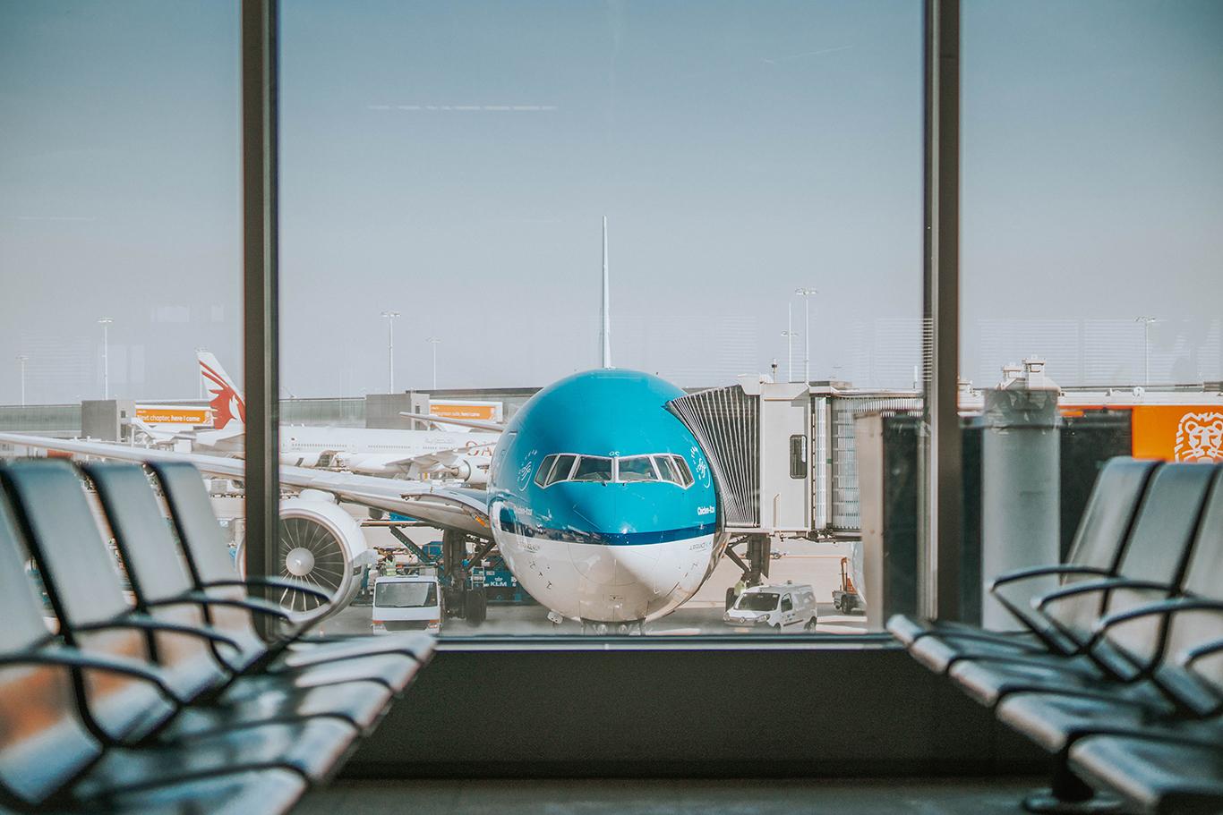 aeroport avion salle d'attente gate