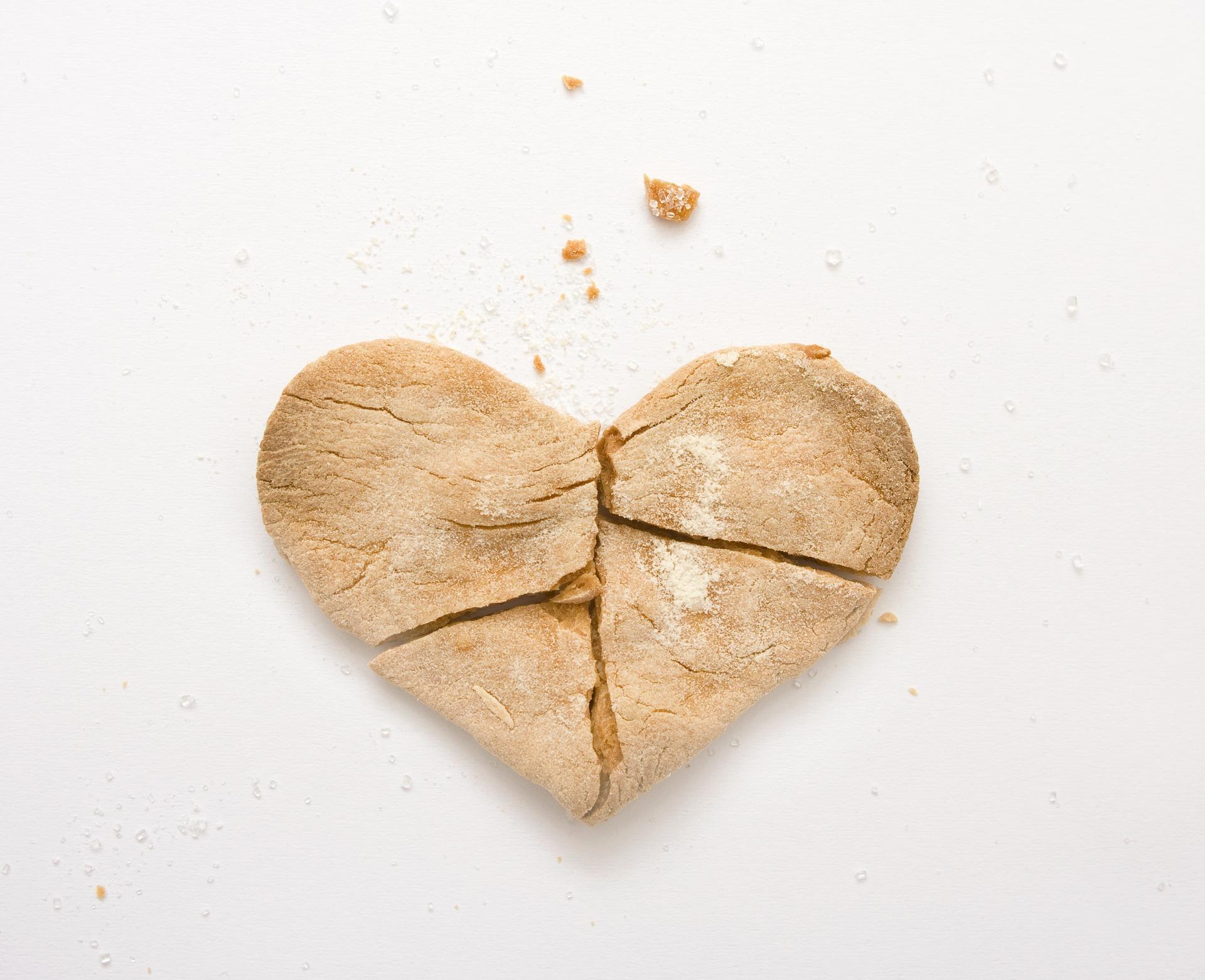 biscuit coeur brisé