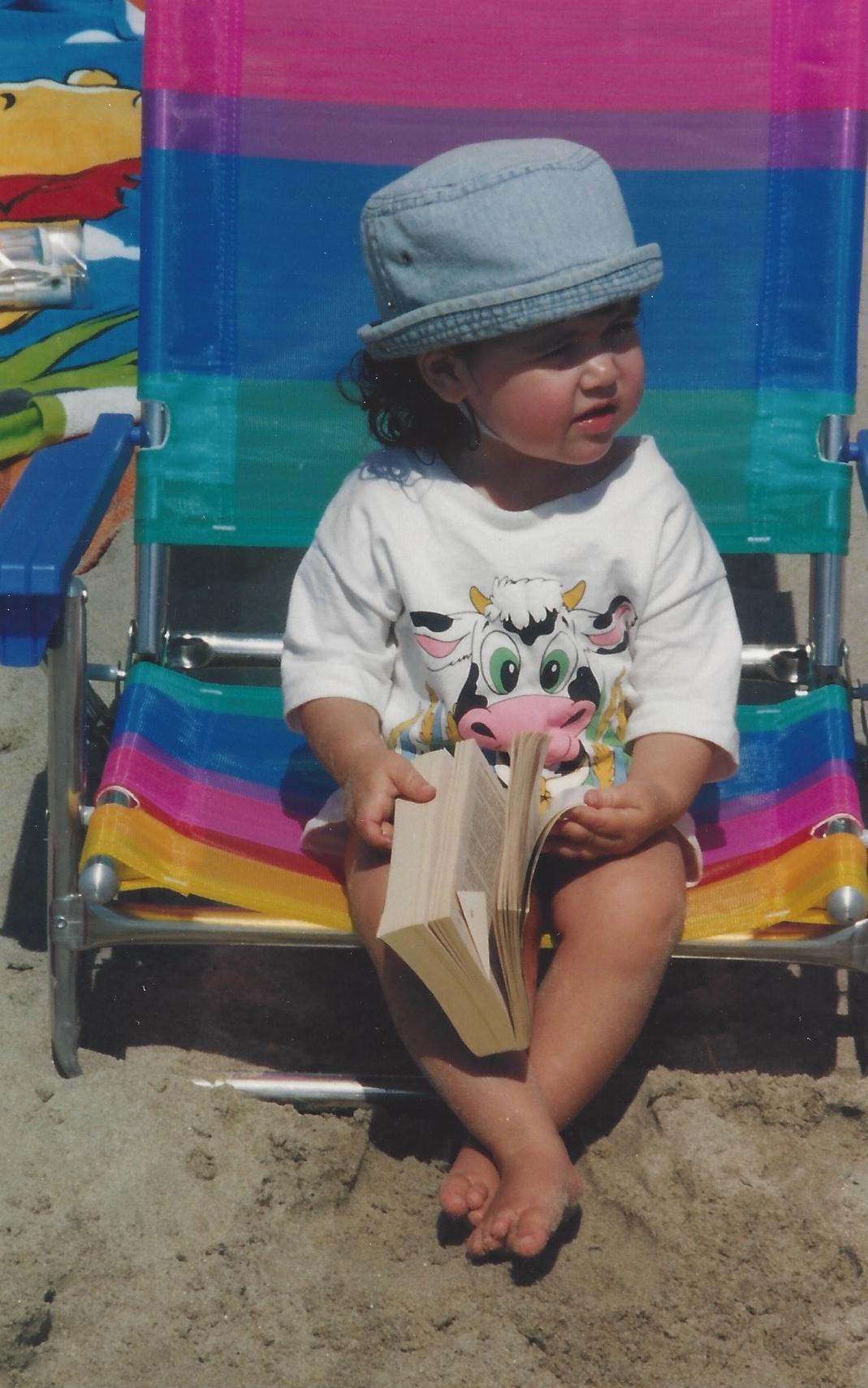 marie-chloe falardeau bébé livre plage