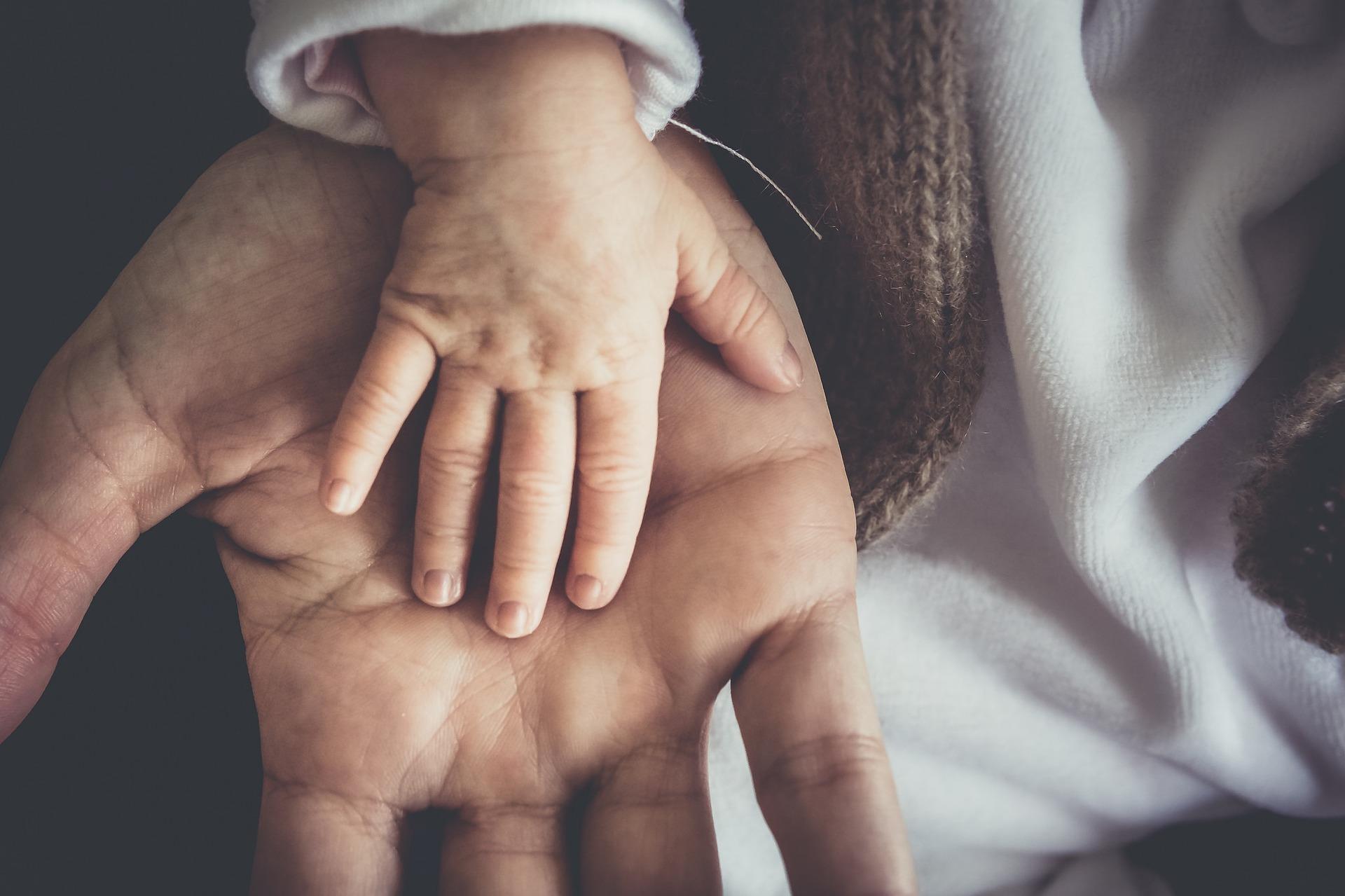 main bébé main papa maman