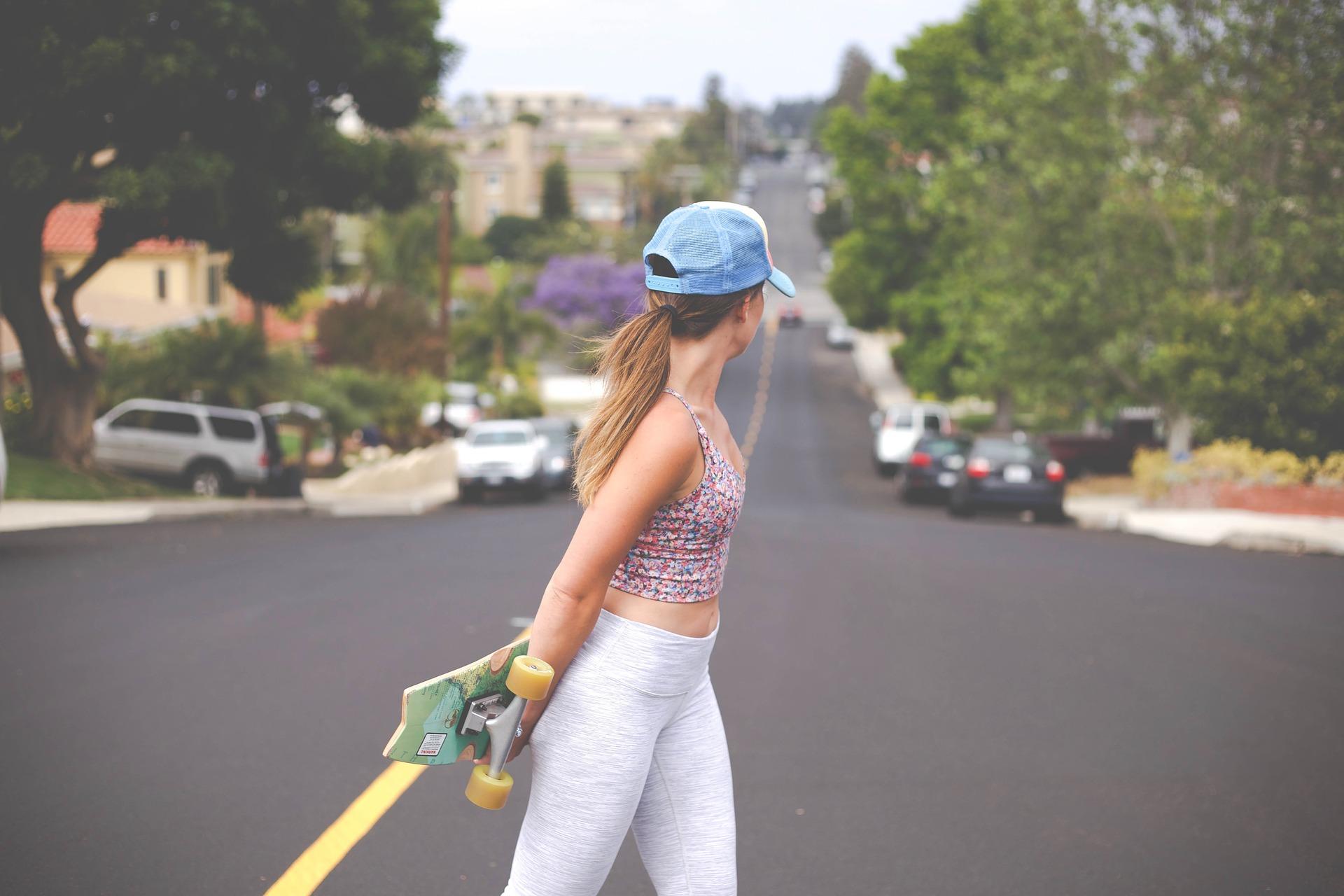 long board fille rue