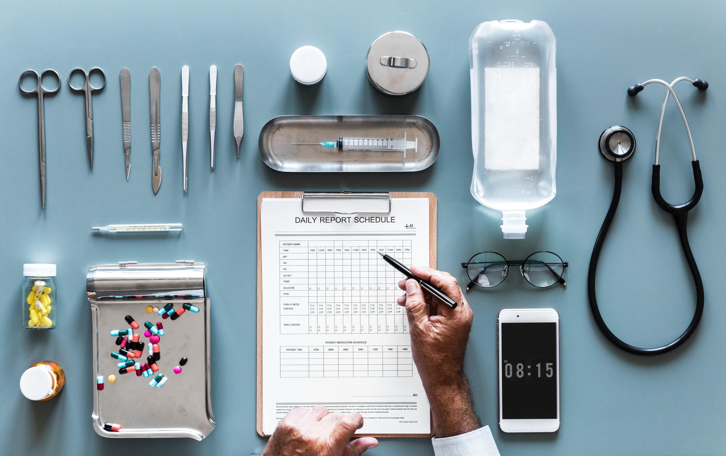 médecin pilule instruments