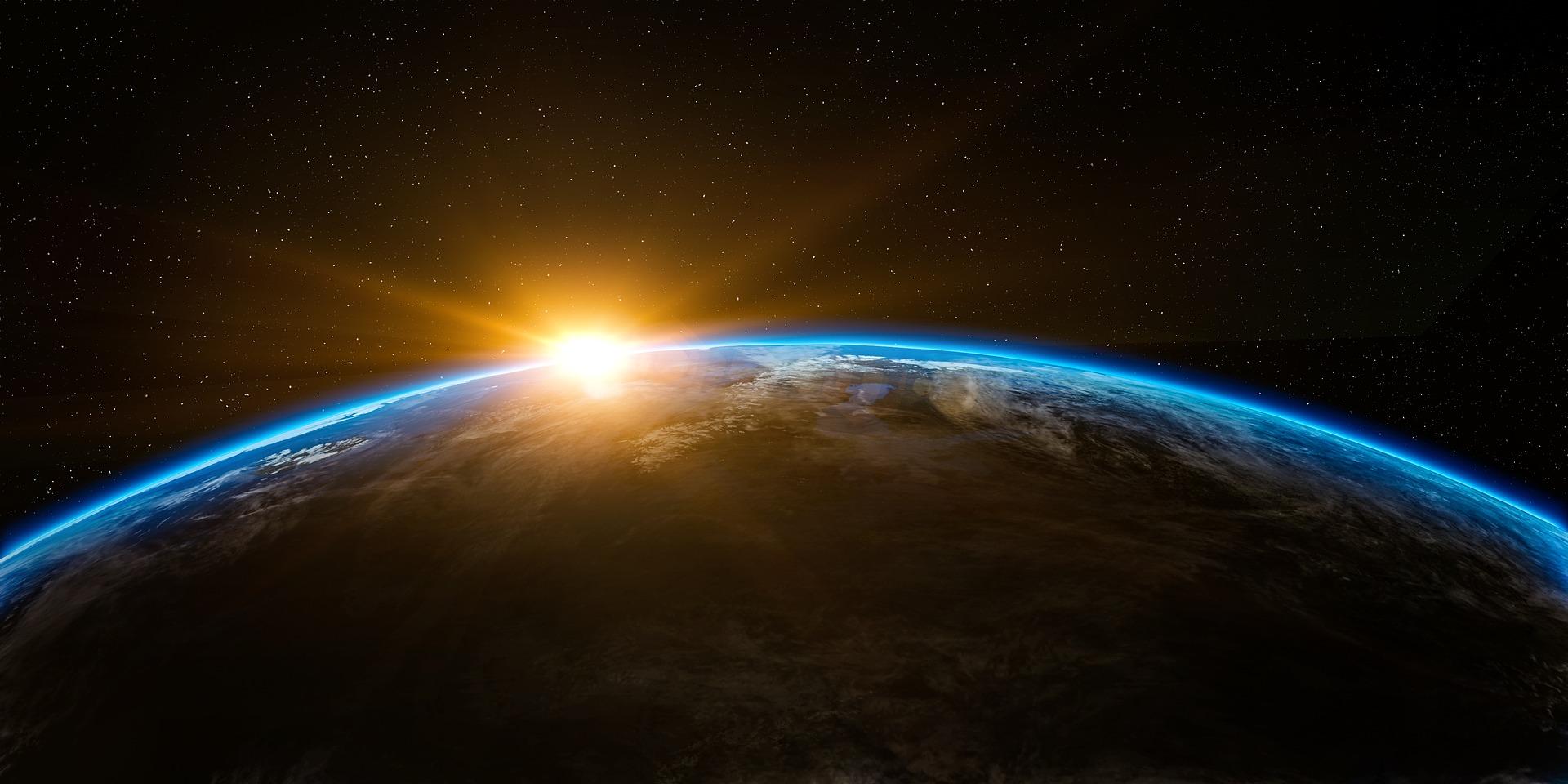 lever de soleil planète terre