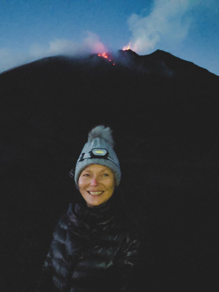 camille dg volcan pacaya guatemala mère