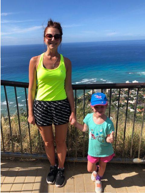valérie au sommet du volcan Diamond Head
