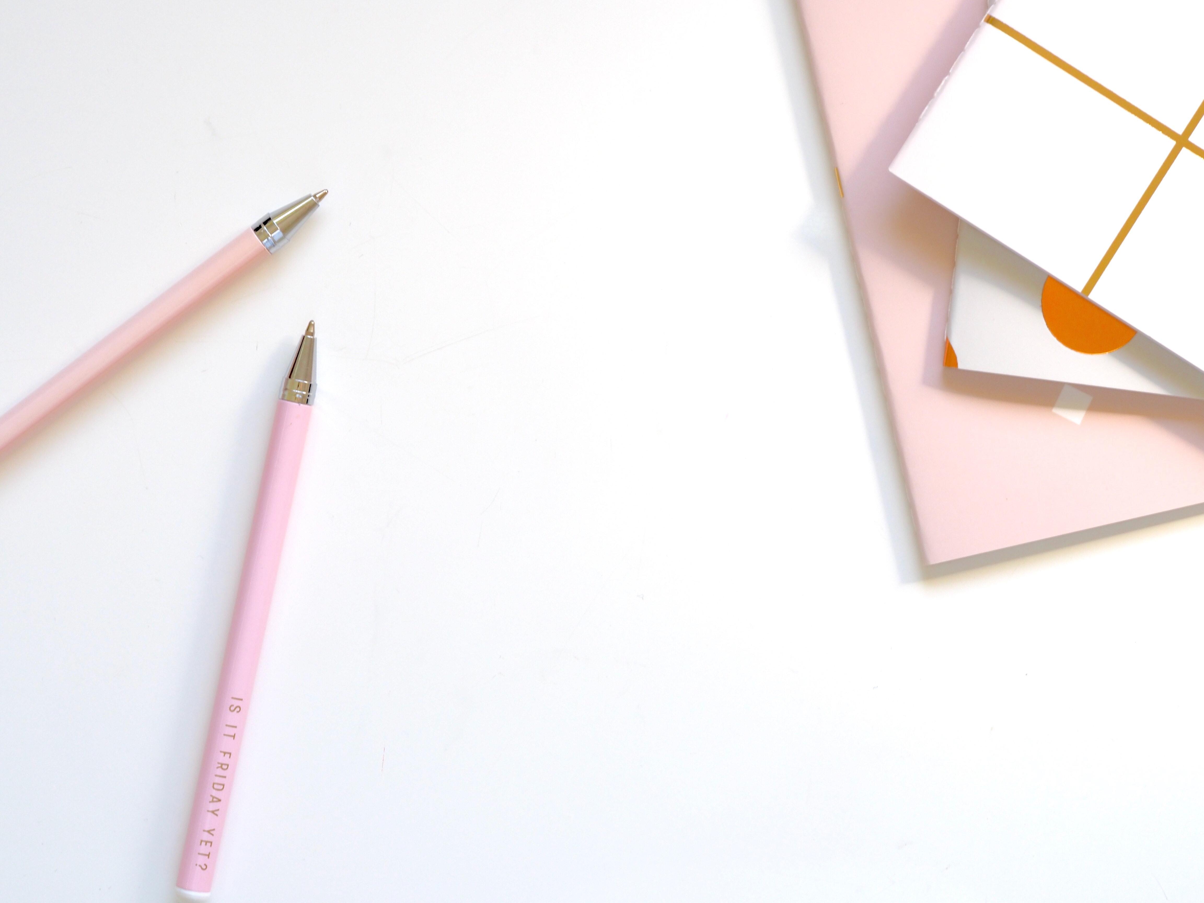 crayons carnet étudier