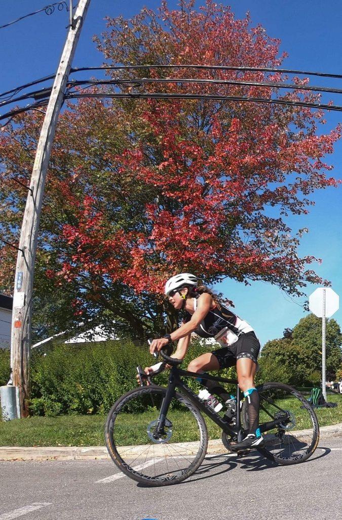 geneviève asselin-demers sur son vélo