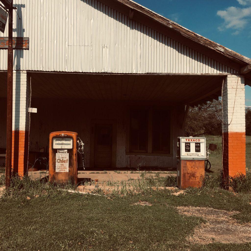 pompes à gaz vintage