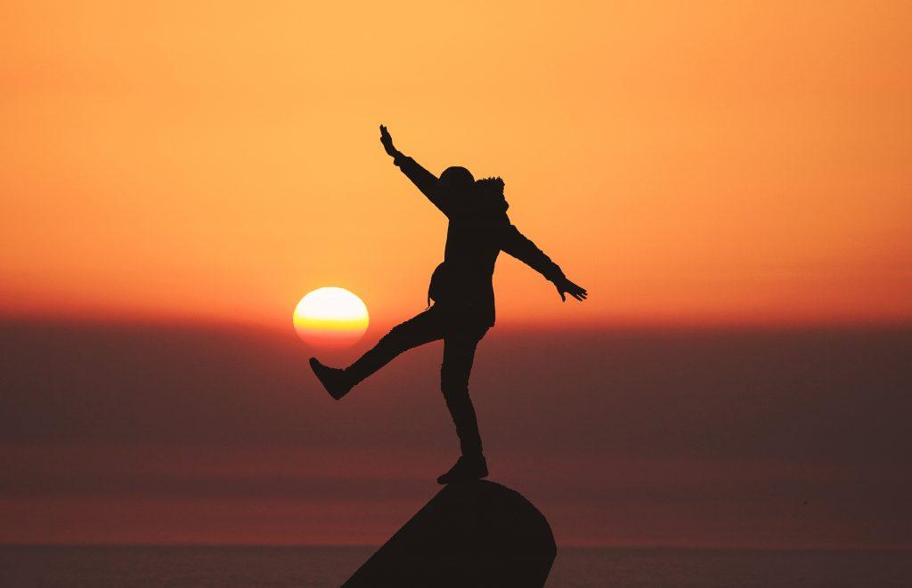 coucher de soleil équilibre célibataire