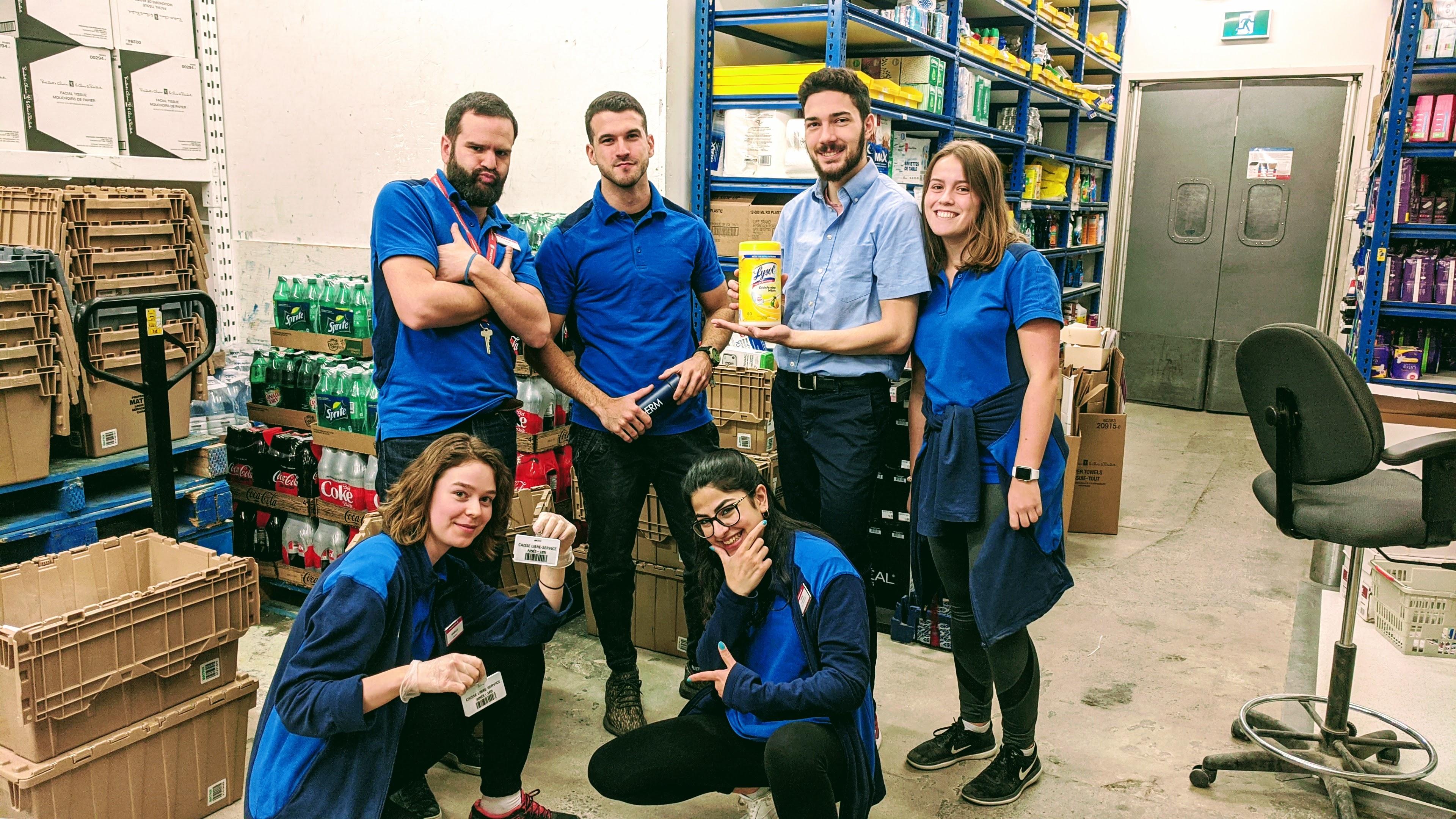 équipe travail corona virus