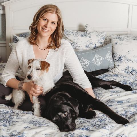 lucie hénault avec chiens