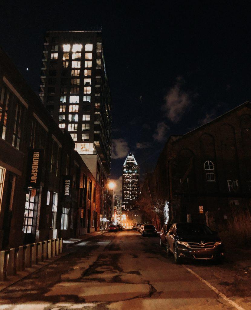 ville la nuit lumières
