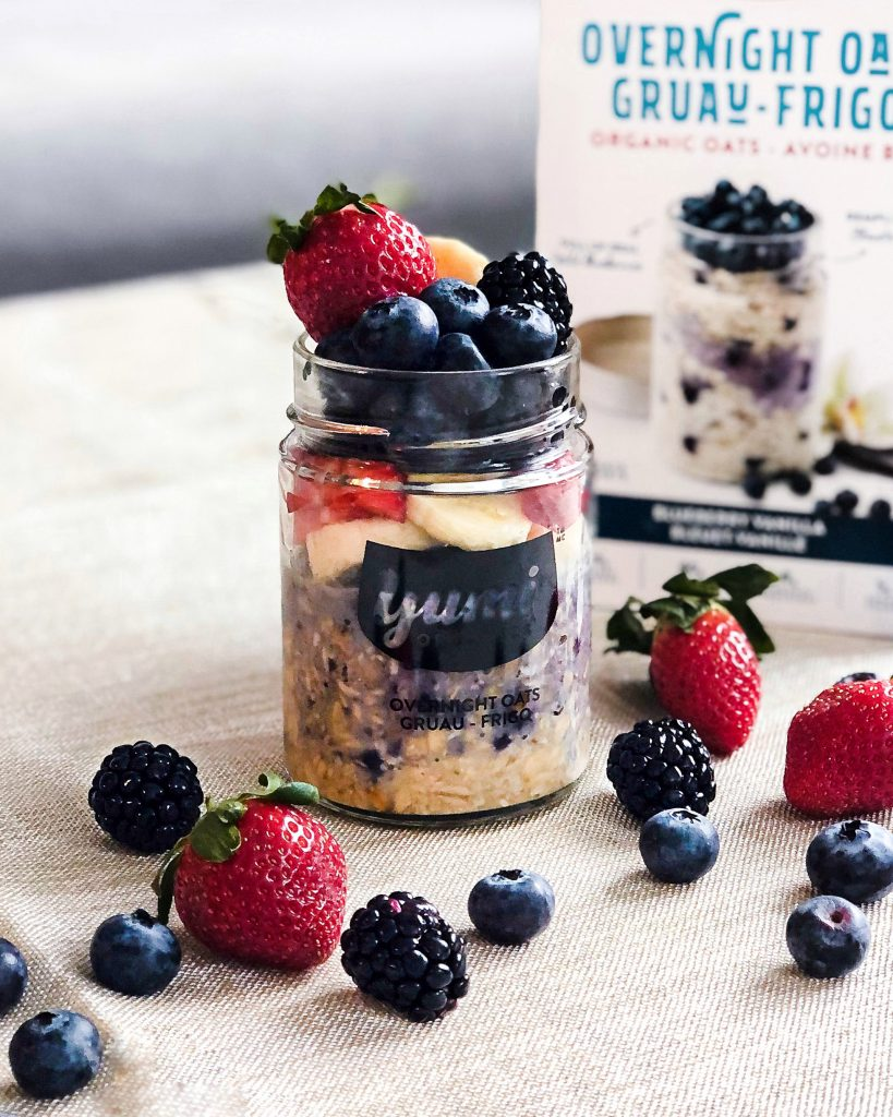 yumi organics fraises et bleuets gruau