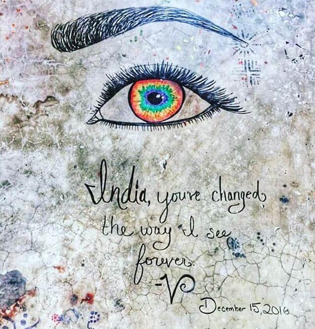 inde oeil graffiti