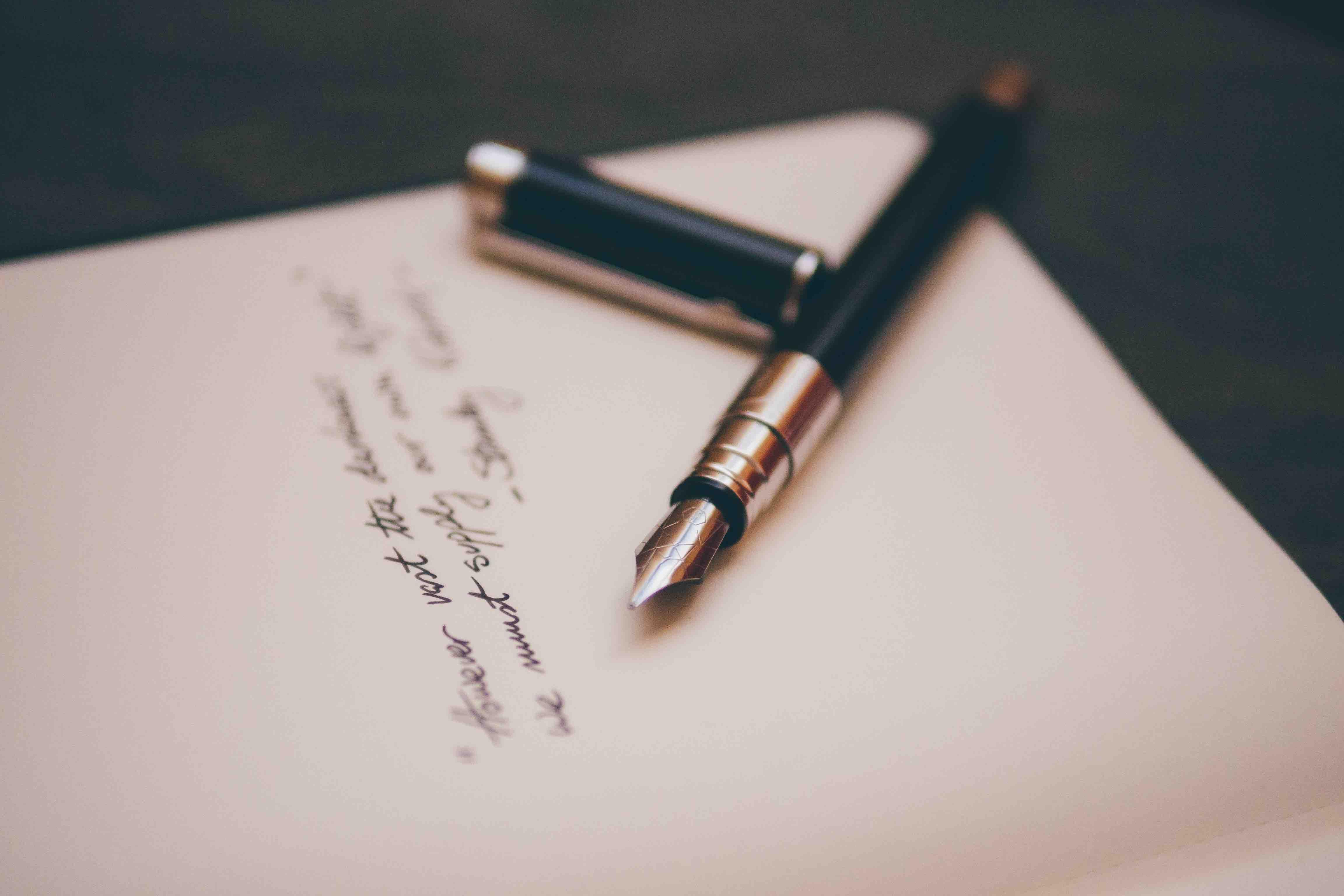 lettre plume écriture