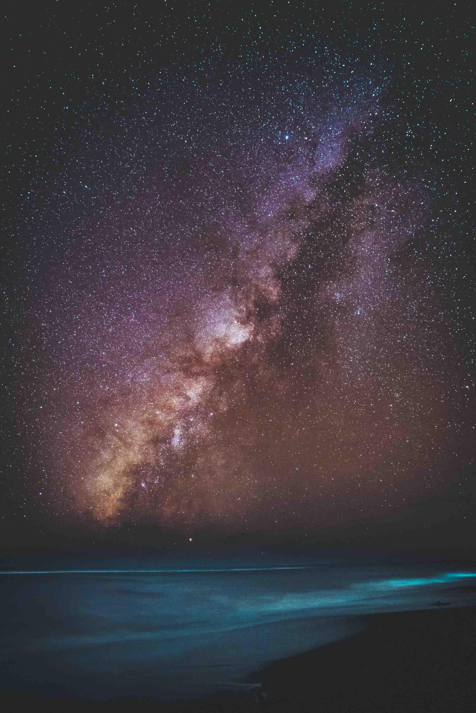 mer océan plage voie lactée étoile ciel