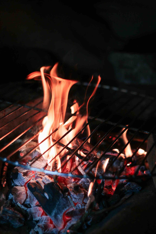 feu BBQ flame été