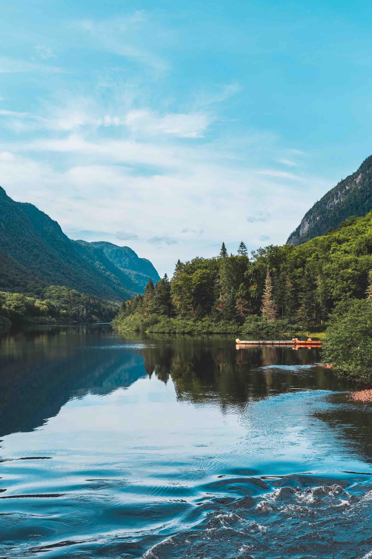 Québec paysage eau lac forêt nature