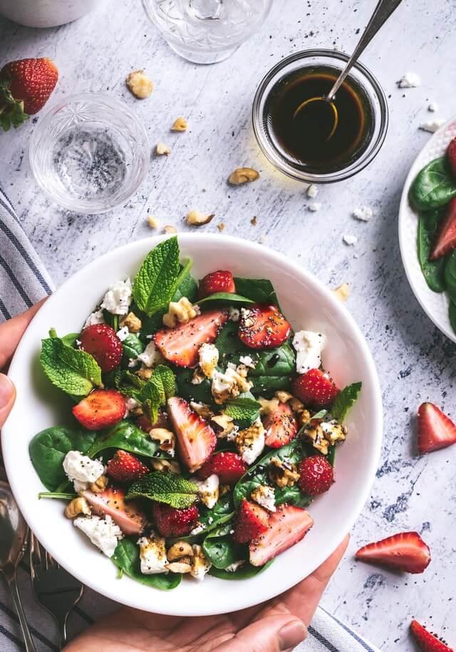 salade été saveurs fraises