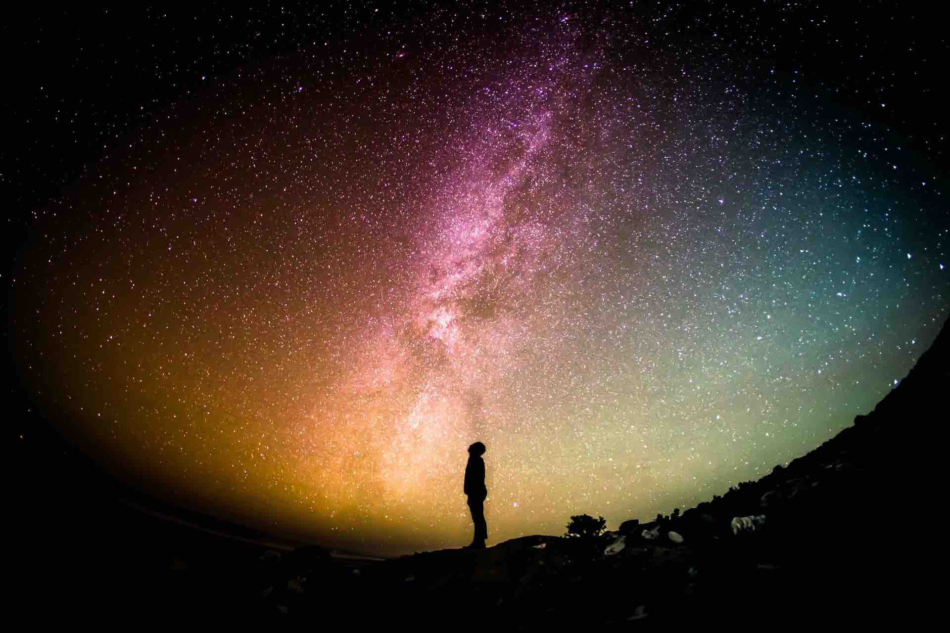 étoiles seul solitude ciel nuit galaxie