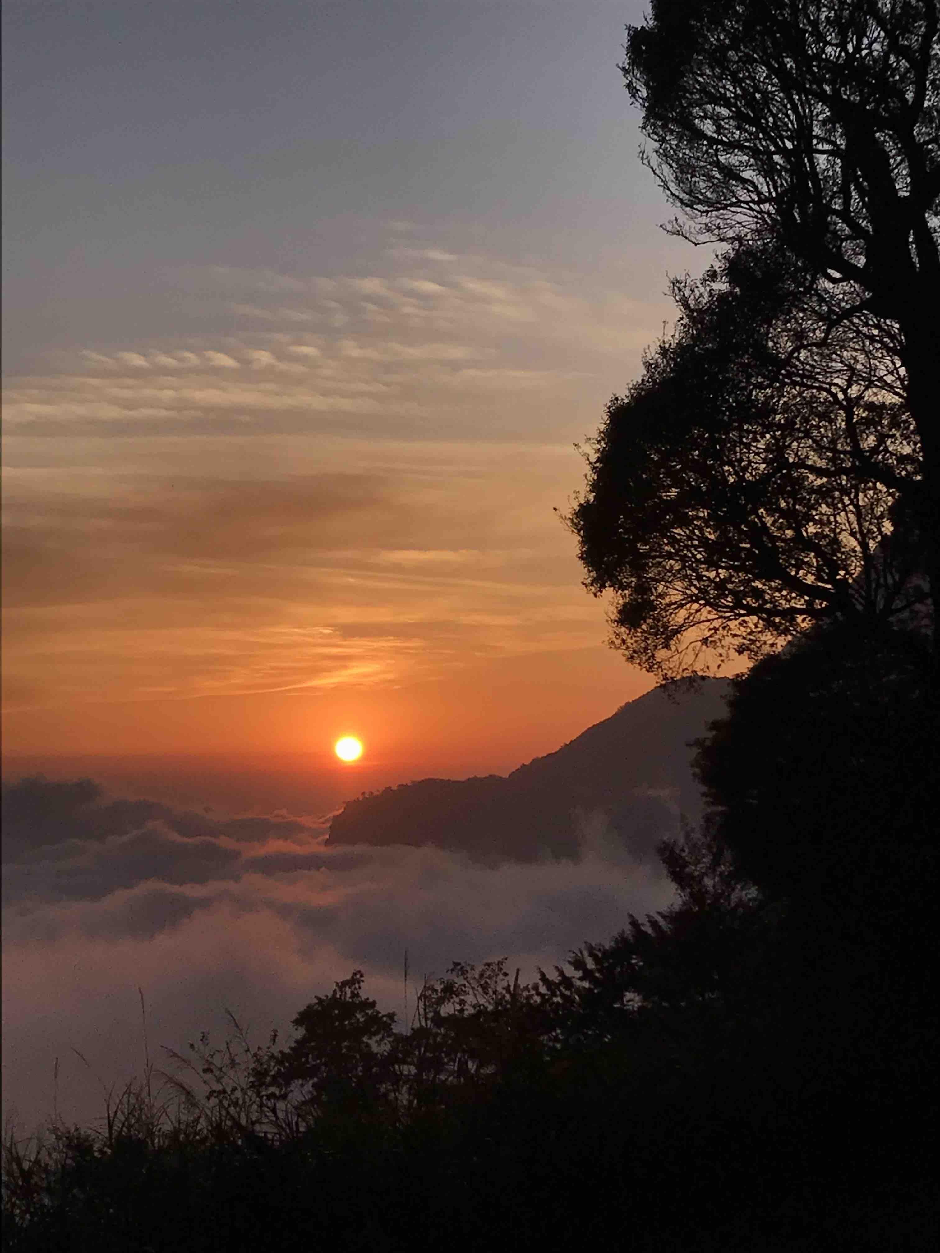 Taiwan coucher de soleil paysage nuages