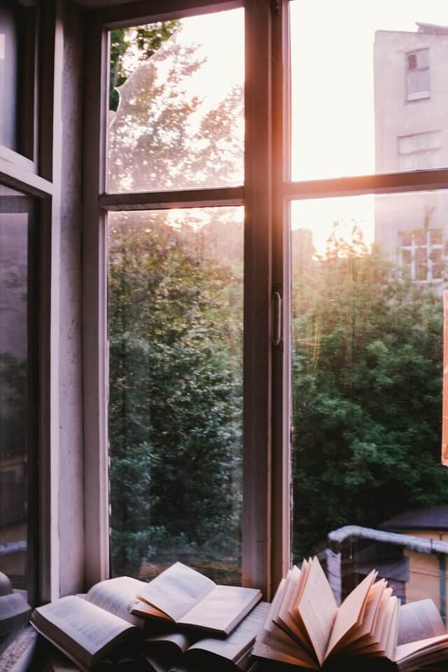 livres fenêtre books soleil bonheur