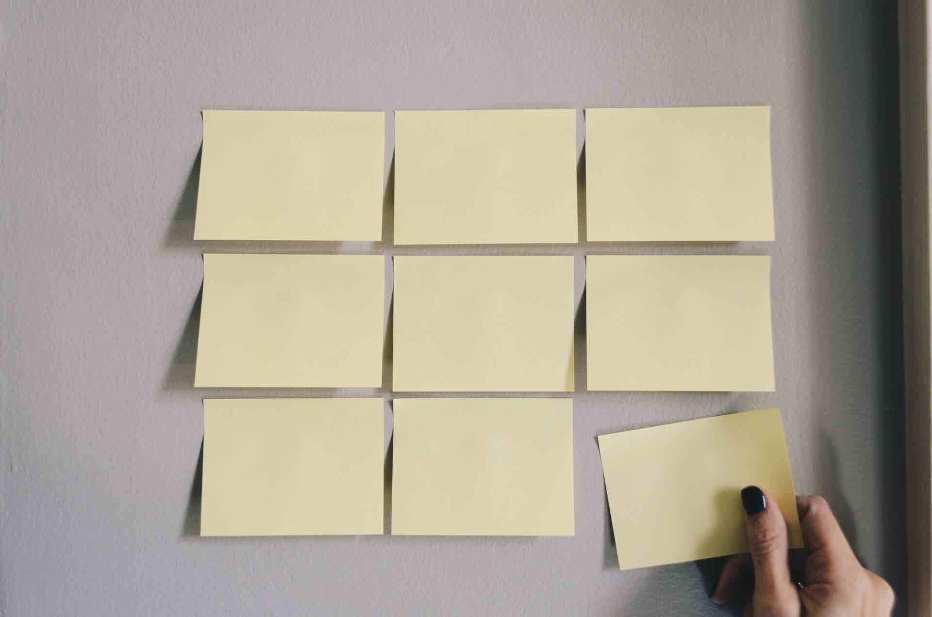 sections divisions post-it