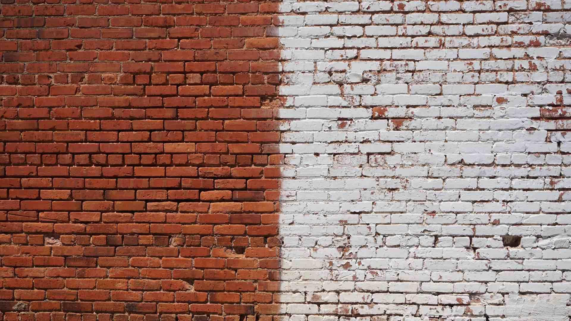 dualité mur brique blanc brun