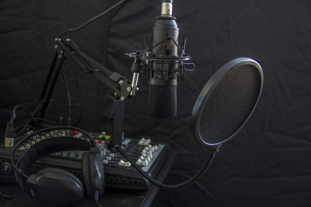 studio d'enregistrement micro