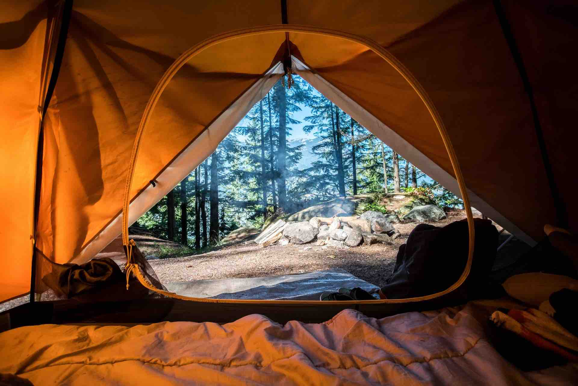 tente camping plein-air nature