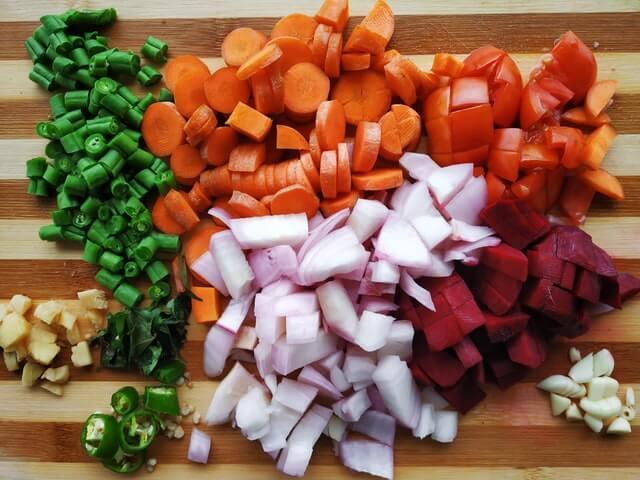 plateau légumes couleur recette goût