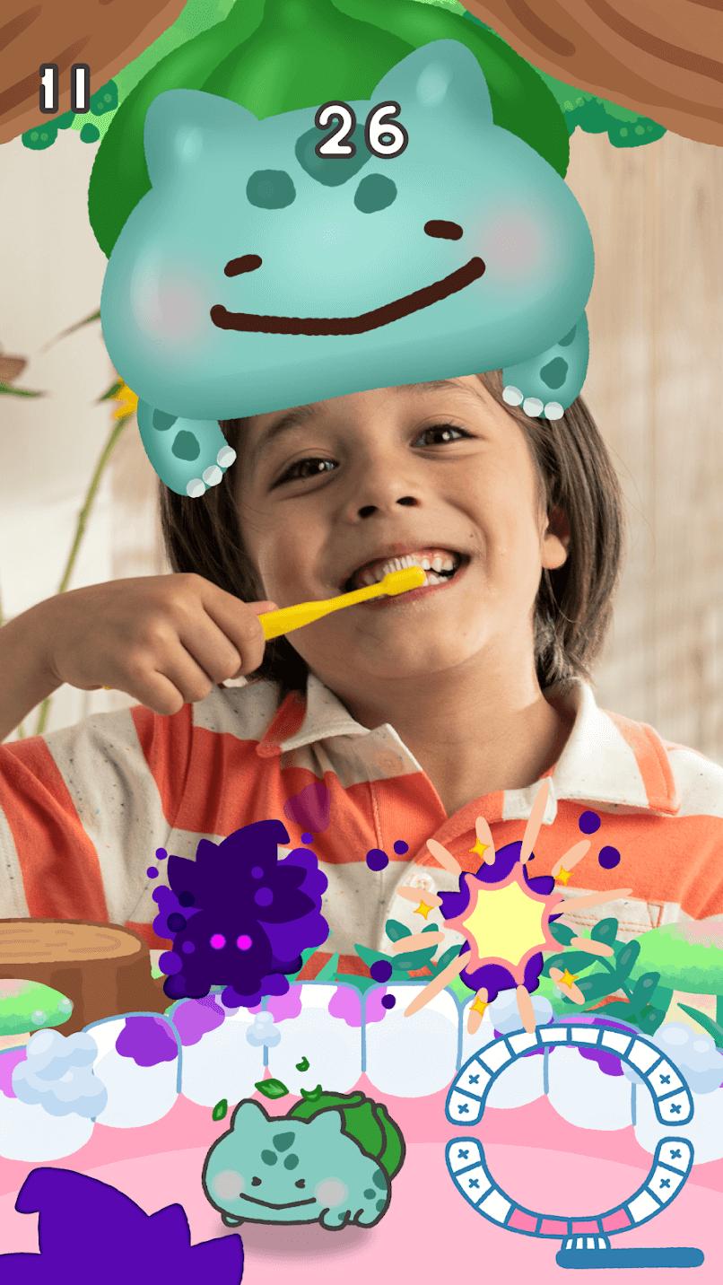 pokémon smile jeu brosse à dents application