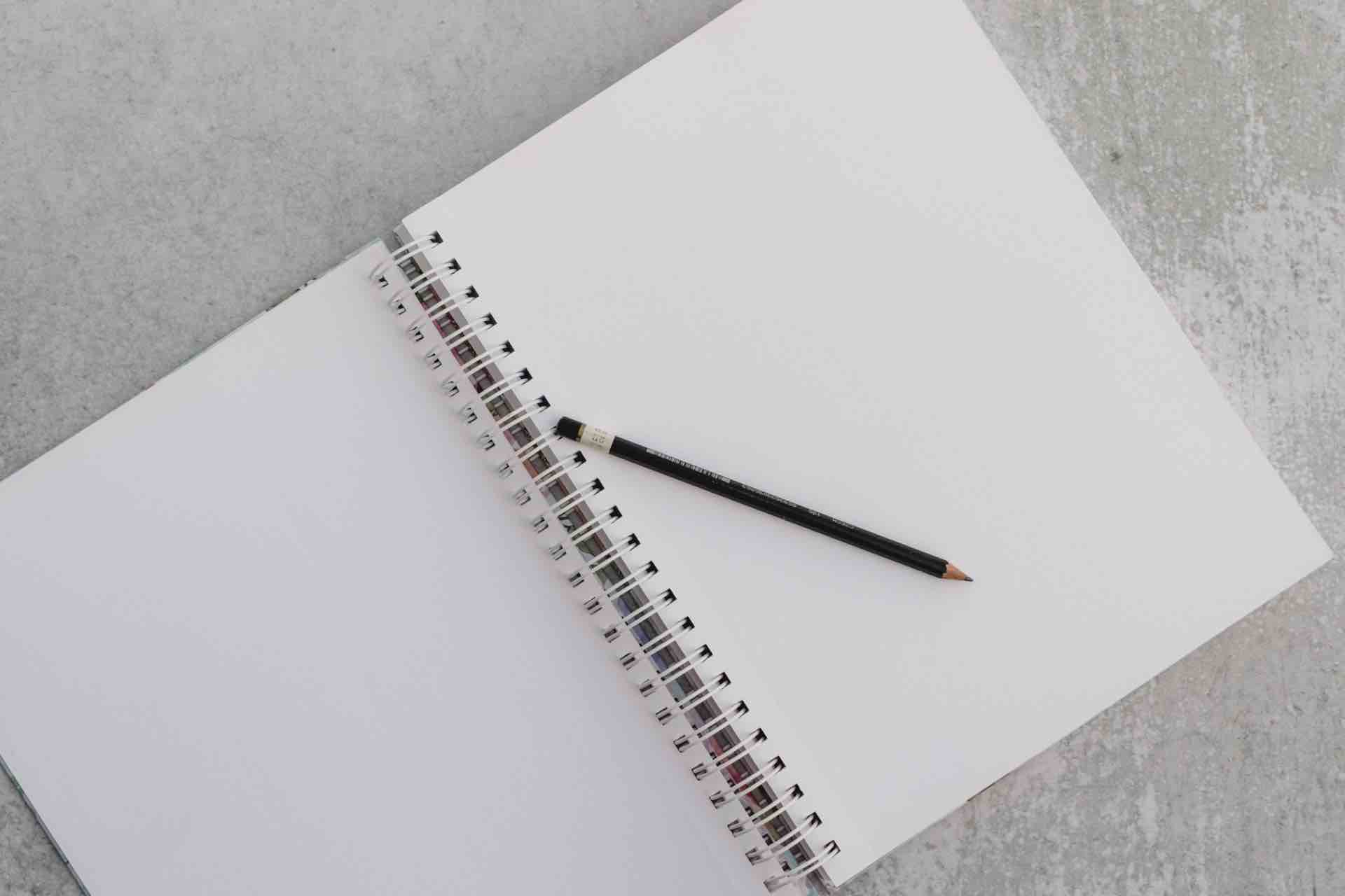 page blanche cahier carnet écriture