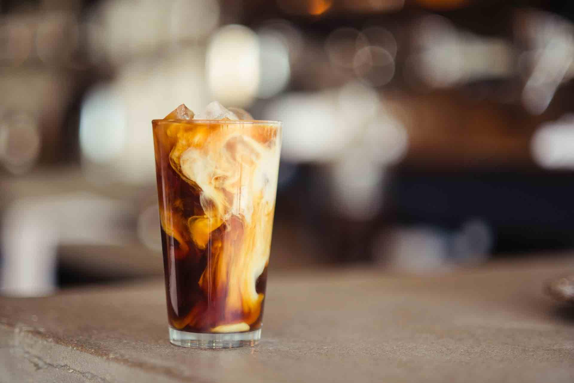 café glacé coffeeshop latté glaçons délicieux