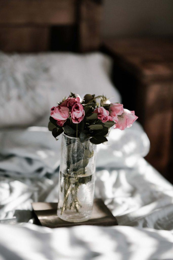 fleur vase lit