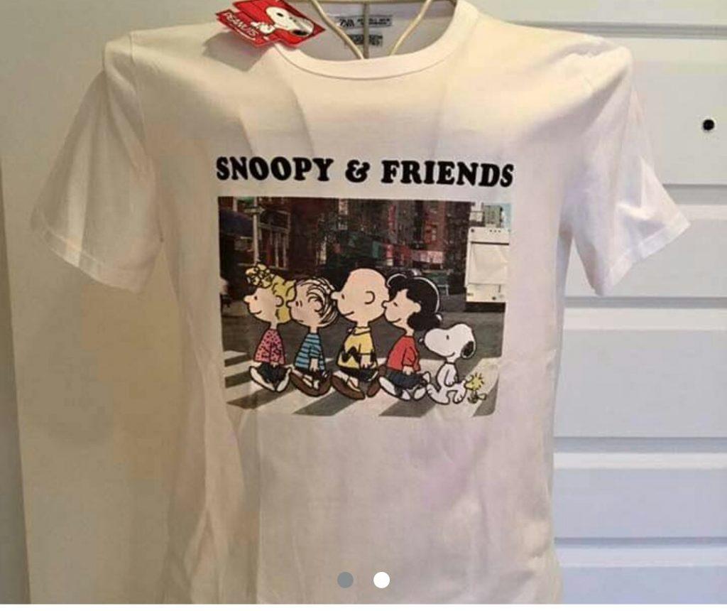 t-shirt blanc snoopy