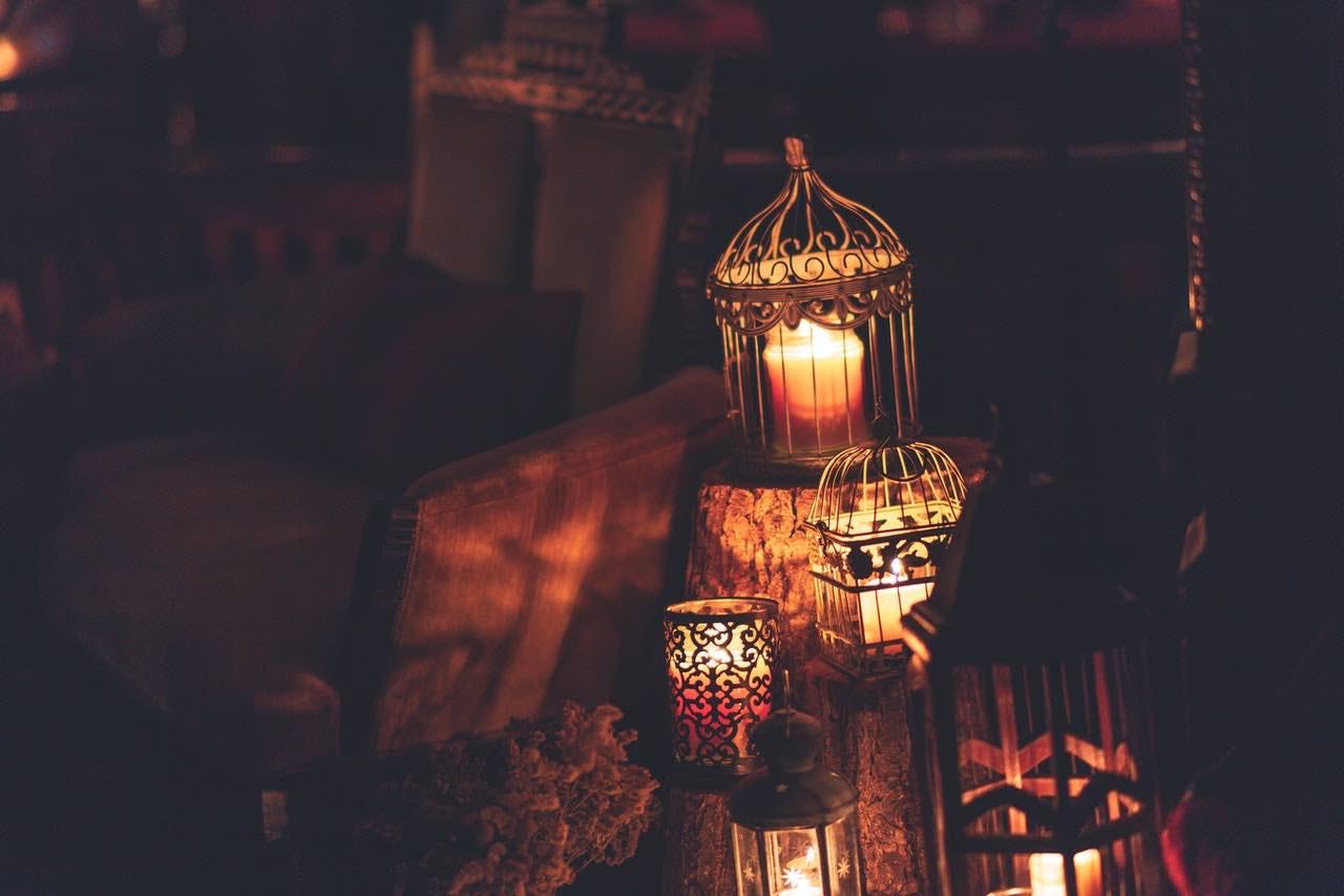 chandelle bougie lampion décoration