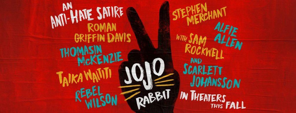 affiche film jojo rabbit avec le noms des acteurs