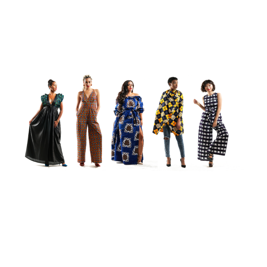 PROJET FADÖR - 5 femmes en habits africains