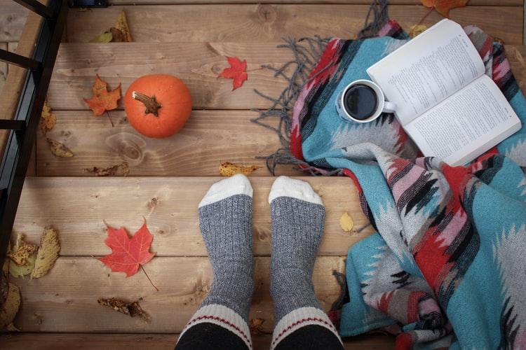 Bas de laine, citrouille, automne