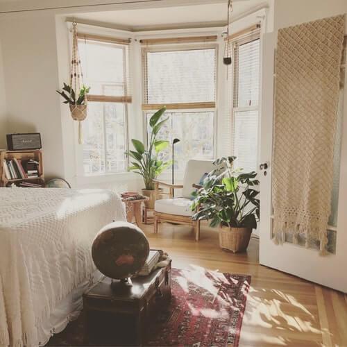 chambre, décoration, lumière
