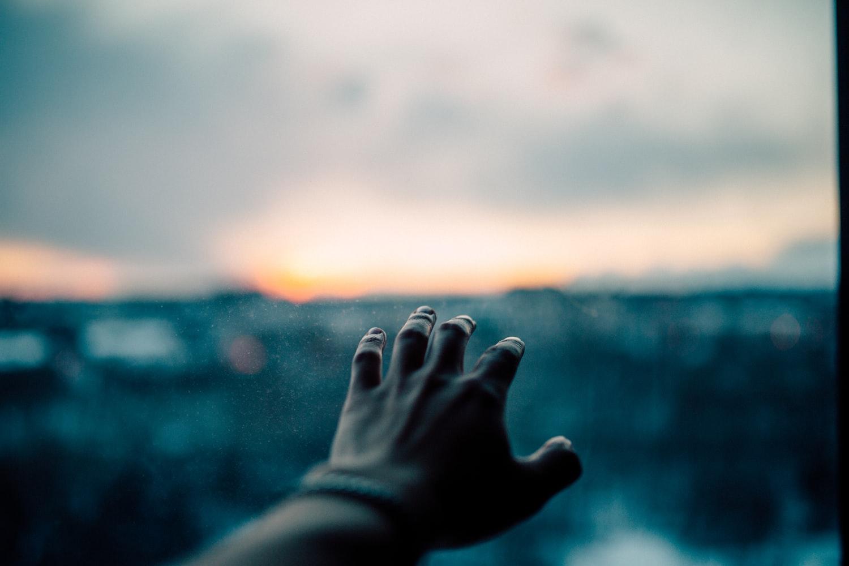 main, paysage, sombre