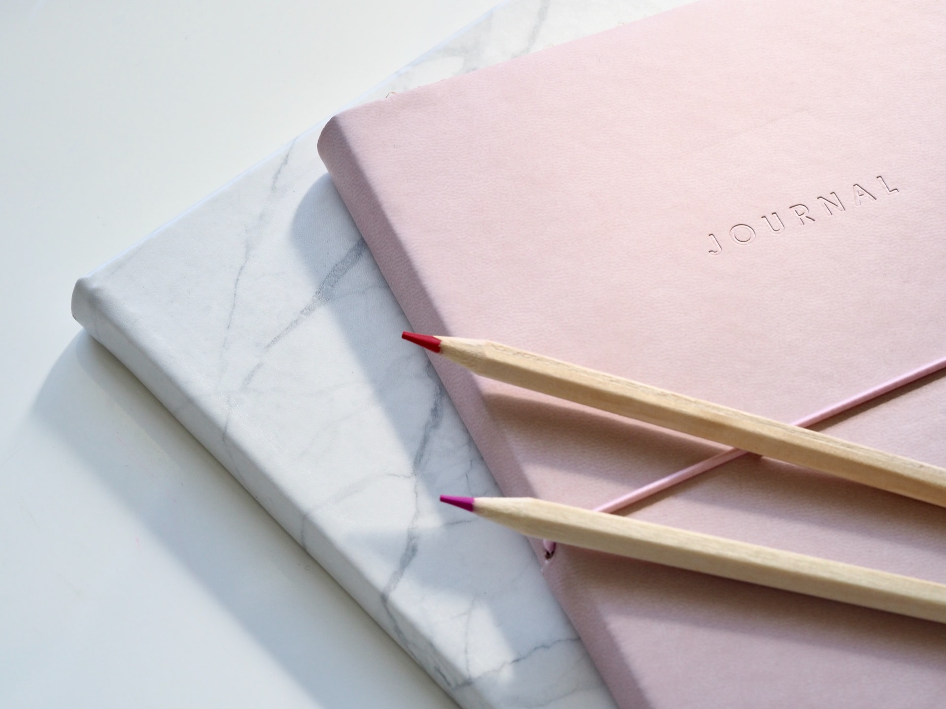 journal rose crayons