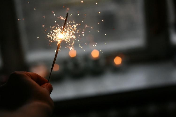 lumière, jour de l'an