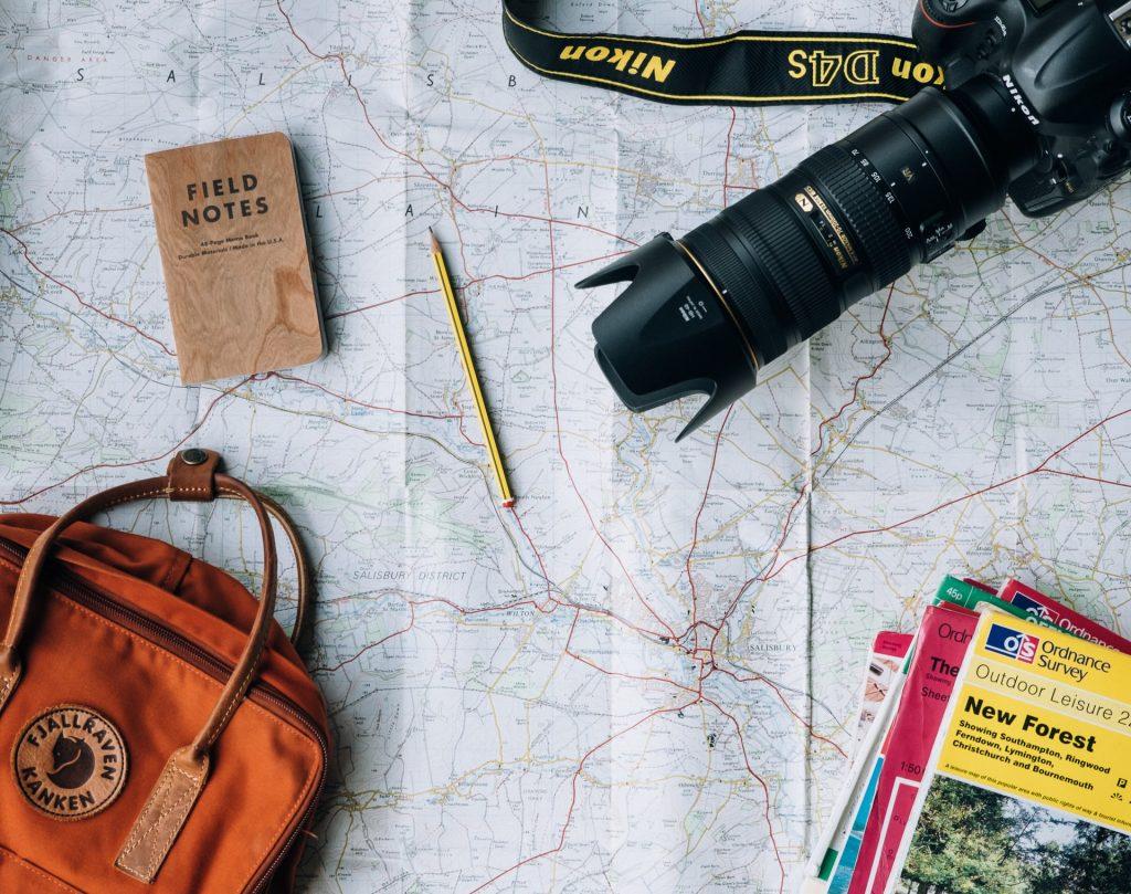voyage préparation carte